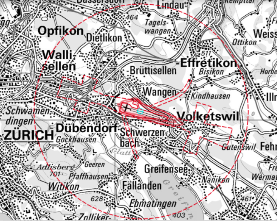 SIL- Karte Flugplatz Dübendorf