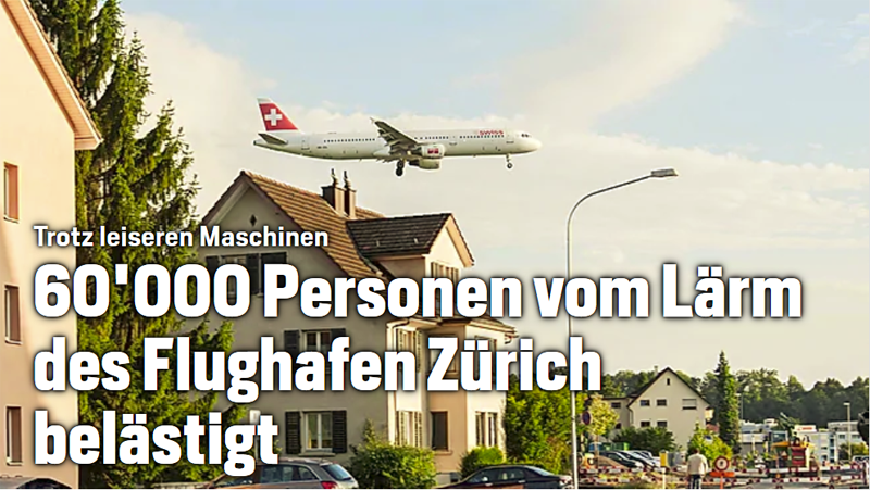 60'000 von Fluglärm betroffen
